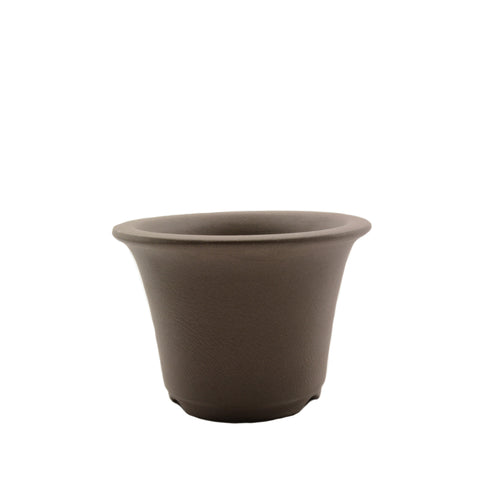 "3.75"" Tokoname Brown Round Pot"