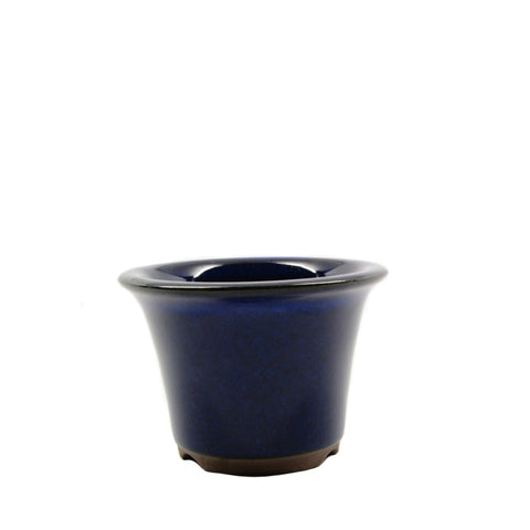 "3.75"" Tokoname Dark Blue Round Pot"