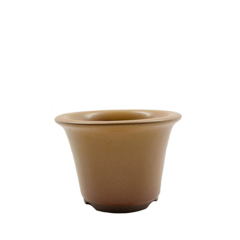 "3.75"" Tokoname Yellow Round Pot"