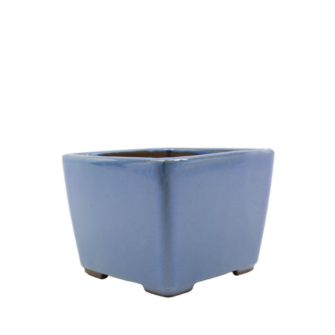 "4.5"" Tokoname Blue Square Glazed Pot"