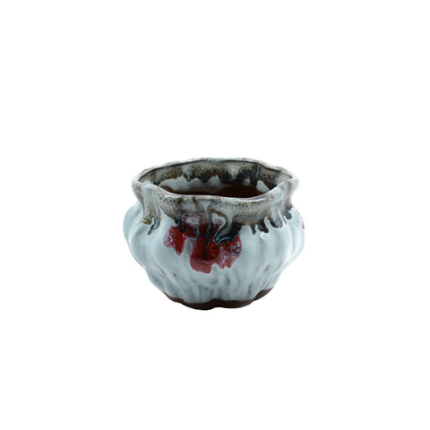 "2.6"" Yixing Drip Glazed Mame Round Pot"