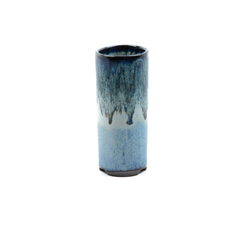 "1.75"" Yixing Blue Glazed Mame Cylinder Pot"