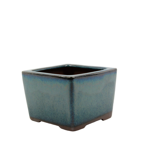"4"" Yixing Green Shelled Square Pot"