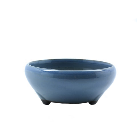 "5"" Tokoname Blue Round Glazed Pot"