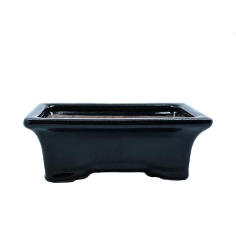"6.5"" Yixing Dark Blue Rectangular Pot"