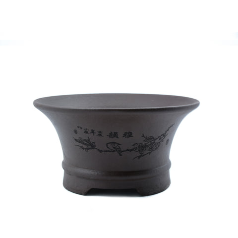 "5.5"" Yixing Etched Round Cascade Pot"