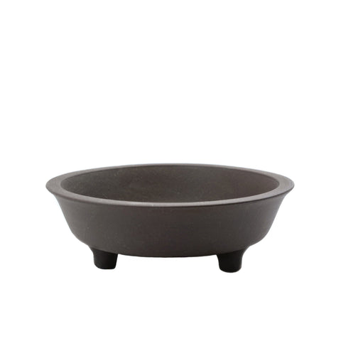 "6.25"" Yixing Minimalist Brown Round Pot With Feet"