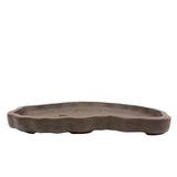 "18"" Yixing Bonkei & Saikei Brown Tray Pot"