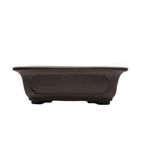 "10.25"" Yixing Brown Window Rectangular Pot"