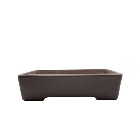 "10"" Yixing Brown Minimalist Rectangular Pot"