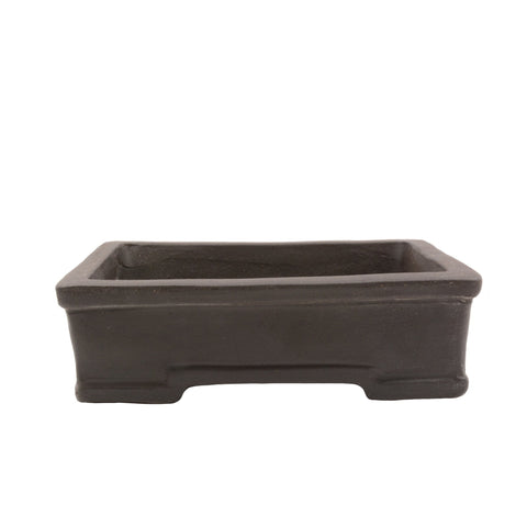 "6"" Yixing Brown Trim Rectangular Pot"