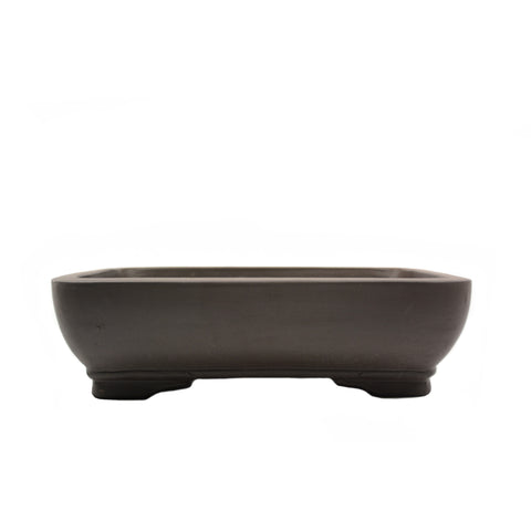 "10"" Yixing Brown Rounded Corners Rectangular Pot"