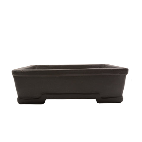 "8"" Yixing Brown Trim Rectangular Pot"