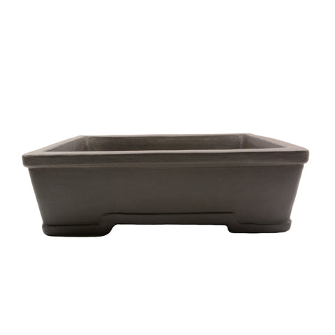 "10"" Yixing Brown Trim Rectangular Pot"