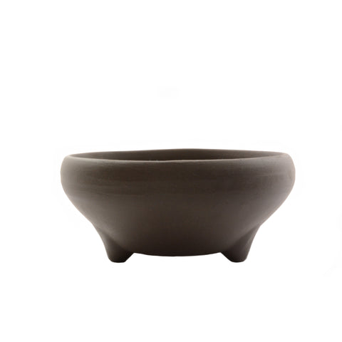 "5"" & 6"" Tokoname Brown Round Unglazed Pot"