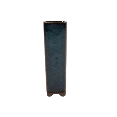"1.25"" Yixing Mame Dark Teal Square Pot"