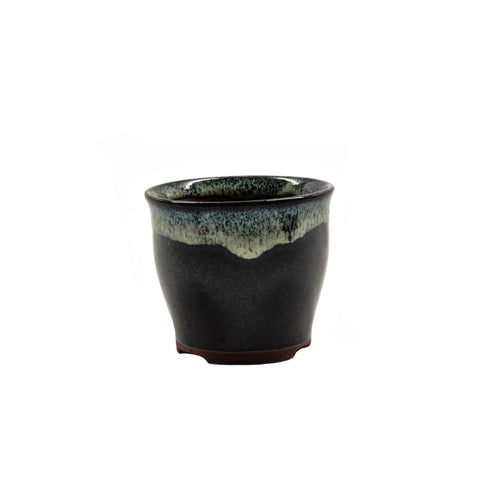 "2.75"" Yixing Dark Brown Shell Glazed Pot"
