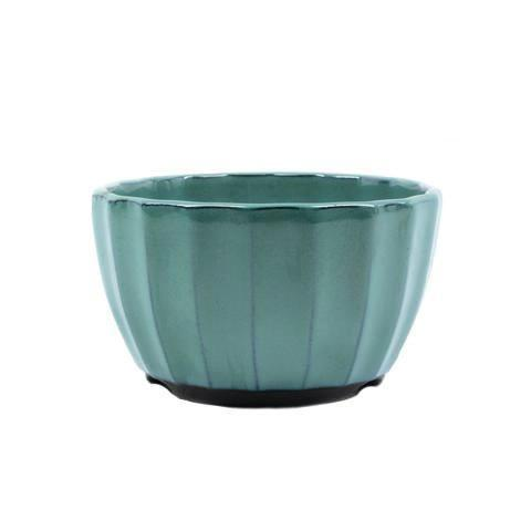 "4"" & 5"" Tokoname Green Ribbed Pot"