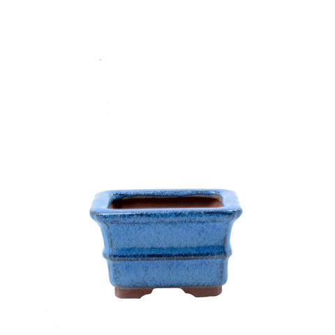 "2.5"" Yixing Blue Mame Rectangular Pot"