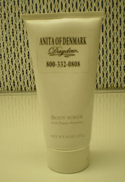 Anita Of Denmark Body Scrub With Papaya Enzymes 6oz / 177g