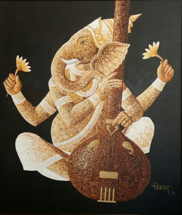 Ganesha with sarangi