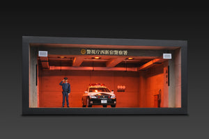 IG online shop/event special! Police station Parking Diorama With Policeman figurine