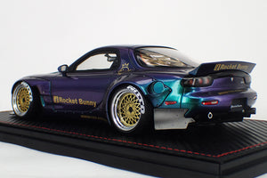 IG1331  Rocket Bunny RX-7 (FD3S) Metallic Purple / Green