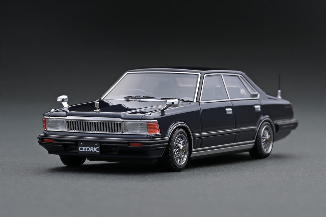 IG1453 Nissan Cedric (P430) 4Door Hardtop 280E Brougham  Deep Blue Metallic ※Wire-Wheel