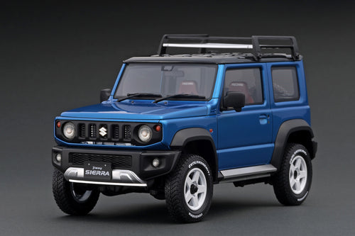 IG1706 SUZUKI Jimny SIERRA JC (JB74W)  Brisk Blue Metallic/Black  Lift Up --- PREORDER (delivery in Jan/Feb 2021)