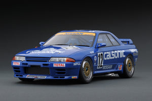 IG online shop limited!  IG1727 1/18 CALSONIC SKYLINE #12 R32 GT-R 1990 JTC  Debut Win With Mr. Hoshino