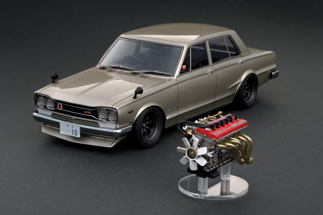 IG online shop limited!  IG1769 1/18 Nissan Skyline 2000 GT-R (PGC10)  Silver  With Engine