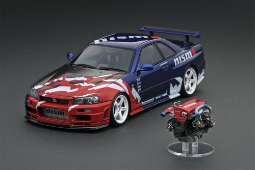 IG event/online shop limited!  IG1826 1/18 Nismo R34 GT-R R-tune Launch Ver. TAS With Engine