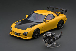 IG online shop/event special! IG1838  Mazda RX-7 (FD3S) Mazda Speed Aspec Yellow  With Engine