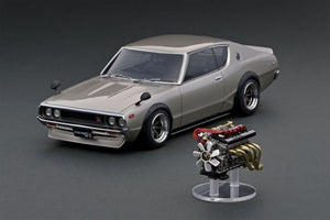 IG online shop/event special! IG1847 Nissan Skyline 2000 GT-R (KPGC110) Silver  With Engine  --- PREORDER (delivery in Jun 2020)