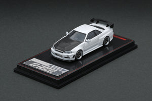 IG1/64 DIECAST COLLECTION  Nismo R34 GT-R Z-tune Blue Metallic, White & Omori Factory CRS