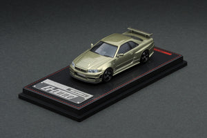 IG1/64 DIECAST COLLECTION  Nismo R34 GT-R Z-tune Green Metallic, Red Metallic, Silver & Gold