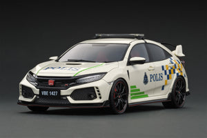 IG1882  1/18 Honda CIVIC (FK8) TYPE R Malaysia Police Test Car <IG online shop limited>