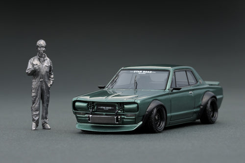 IG online shop limited!  IG1884  Nissan Skyline 2000 GT-R (KPGC10)STAR ROAD  Green (GS-Wheel)