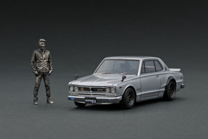 IG Nismo Festival 2019 limited!  IG1935  Nissan Skyline 2000 GT-R (KPGC10) Matsuda Street Silver With Mr. Matsuda