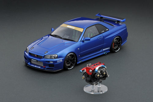 IG online shop limited!  IG1937 1/18 TOP SECRET GT-R (BNR34) Blue With Engine