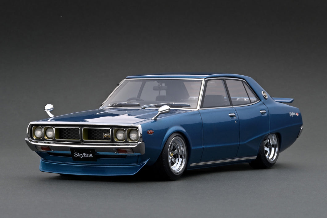 IG1982 Nissan Skyline 2000 GT-X (GC110) Blue Metallic