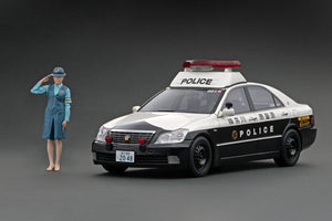 IG online shop/event special! IG2048  Toyota Crown (GRS180) 神奈川県警 自動車警ら隊001号 Kanagawa Police Motor Patrol Unit #001 With Policewoman figurine