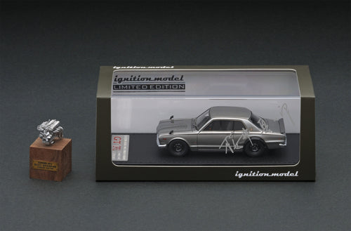 IG online shop limited!  IG2060  Nissan Skyline 2000 GT-R (KPGC10) Silver With Engine