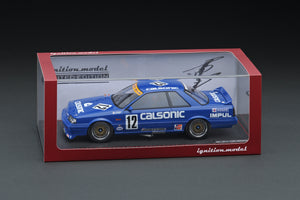 IG online shop limited!  IG1724 1/18 CALSONIC Skyline (#12) 1989 JTC With Mr. Hoshino