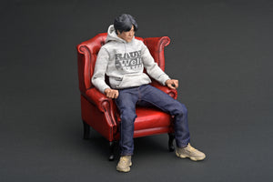 IG online shop/event special! IG2319  1/6 Scale IG-Model Figure & Chair Set RWB Mr. Nakai  with Hoodie