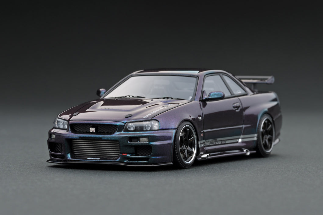 IG1480 TOP SECRET GT-R (BNR34) Midnight Purple