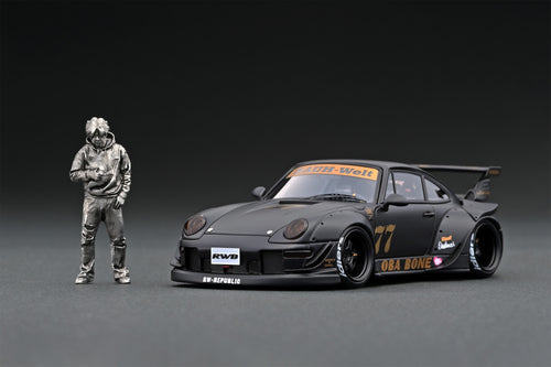 IG online shop/event special! IG2321 RWB 993 Matte Black With Mr. Nakai standing pose
