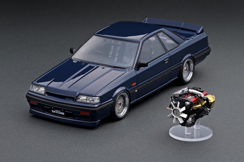 IG online shop/event special! IG2110 Nissan Skyline GTS-R (R31)  Blue Black With Engine