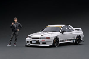 IG online shop/event special! IG2103 TOP SECRET GT-R (VR32) White With Mr. Smokey Nagata