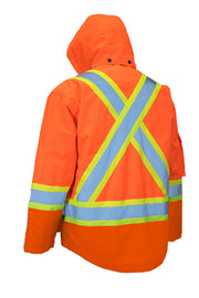 All Orange 4-in-1 Hi Vis Safety Parka